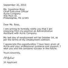 Resignation From The Company Sample Professional Letter Formats To Use Job Resignation