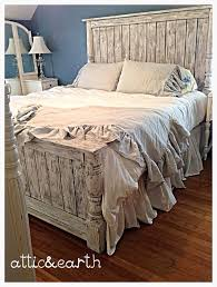Shabby Chic handmade headboard/footboard from atticandearth on Etsy. Saved  to Home.