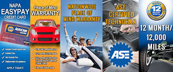 you experience a problem with a repair done by a napa autocare center you can have confidence that a napa autocare center nearby will take care of it
