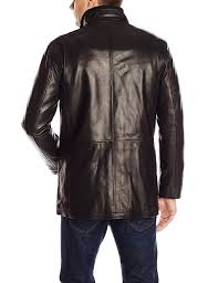 cole haan men s smooth lamb leather car coat at men s clothing