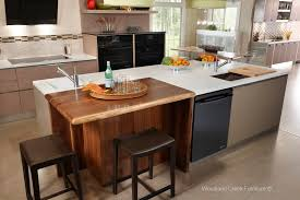 solid wood live edge counter top walnut island top