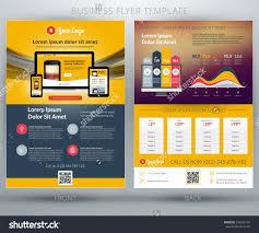 vector business flyer template mobile application stock vector vector business flyer template for mobile application or online shop