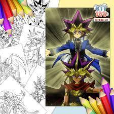 Mô hình giấy Tranh tô màu Yu-Gi-Oh! TTM-0032 - Kit168 Shop mô hình giấy