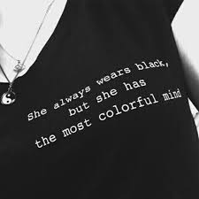 Women Girl Tumblr Fashion Casual Grunge Black Tee Quotes Saying