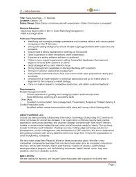 Resume Job Descriptions Retail Sales Associate New Retail Sales ...