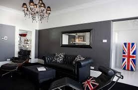 Mesmerizing Black And Grey Living Room Ideas Grey Wall Color Black Sofa  Black Square Sofa Table Decorative Chandelier Pendant Lamp