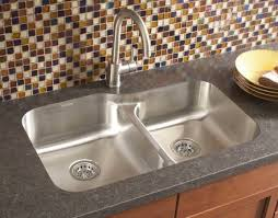 photo of a karran e 260r stainless steel undermount sink installed in a laminate countertop