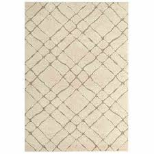 jubilant abstract geometric 5x8 area rug in creame and beige