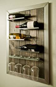 Wall Mounted Wine Rack and Glass Holder by UrbanWestDesigns on Etsy  https://www