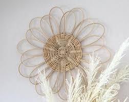 Size and pattern may vary slightly. Rattan Wall Decor Etsy