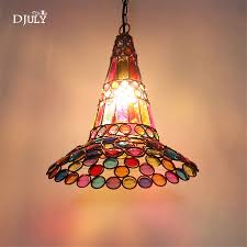 Art Deco Witch Hat Beading Hollow Pendant Lights For Dining