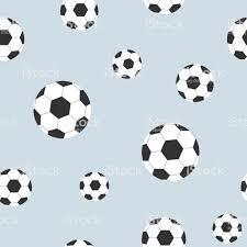 Naadloze Patroon Van Voetballen Op Achtergrond Decoratieve