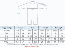 Baby Boy Size Chart Lilchamps 3 Pieces Romper Set For Baby Boys