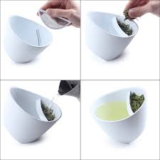 tipping teacup  tea infuser mug glass  uncommongoods