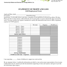 small business profit and loss statement template profit and loss statement template for self employed smart business