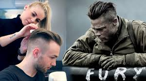 Brad Pitt Hair From Fury Professional Guide Mens Undercut