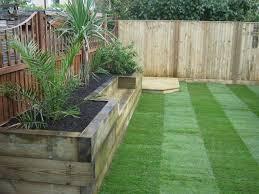 Garden Design Ideas With Railway Sleepers Bench Raised Bed Made Of Railway Sleepers Raised Beds