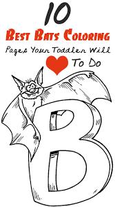 10 Best Bats Coloring Pages Your