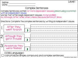 Complex Sentences Ideas And Freebie Speech Peeps