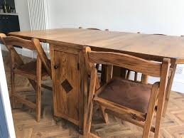 solid oak erfly drop leaf dining table