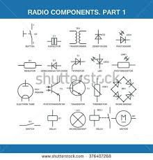 radio engineering stock photos royalty images vectors designation of components in the wiring diagram in vector format eps10