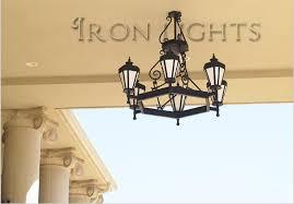 outdoor wrought iron chandeliers porte