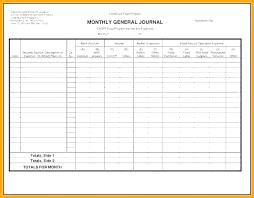 Rental Template Excel Income Excel E Food Journal General Ledger Sheet Rental