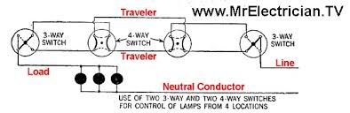 wire a 3 way switch four way switch wiring diagram