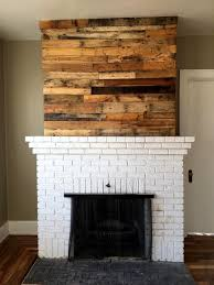 pallet wood wall fireplace. pallet fireplace mantle accent wall wood e