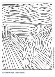 the scream coloring sheet. Exellent Scream Coloring Page The Scream For Sheet