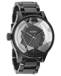nixon the facet watch all black surfstitch all black mens accessories nixon watches a384001