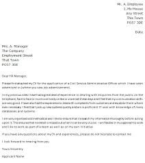 Service Cover Letter Civil Service Jobs Cover Letter Example Learnist Org