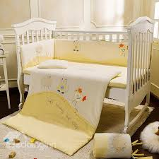 lovely sheep cat and en pattern crib bedding set