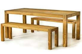 wooden bench table