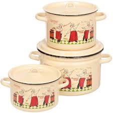 <b>Набор эмалированной посуды</b> СтальЭмаль Повара 1с112 ...