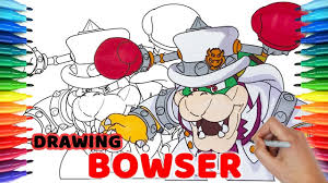 How To Draw Super Mario Odyssey Bowser 93 Drawing Coloring Pages