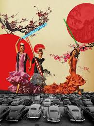 Image Mixed Media Retro Style Pop Art Collage Ideas Flamenco Art Retro Flamenco Girls Disenoideas Retro Collage Pop Art Designs Collage Graphic Design Disenoideas