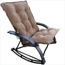 image of folding rocking game chair in saddle brown