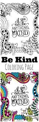 Be Kind Kids Coloring Page Great