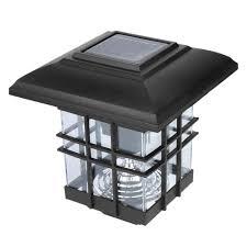Patio Post Lights Amazon Com Miaoc Mini Street Post Outdoor Garden Solar
