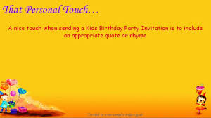 Invitation Words For Birthday Party Kids Party Invitation Wording