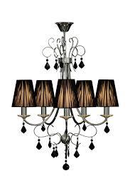 premier housewares luma arm black chandelier crystal with ribbed