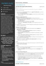 Sales Analyst Resume Marketing Analyst Resume Sample By Hiration