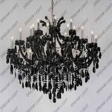 china crystal light pendants chandeliers black crystal light