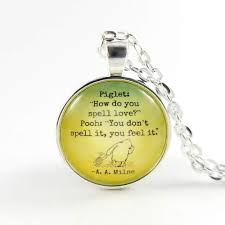 Piglet Pooh Love Quote Necklace From Mom Daughter