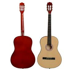 ghp wood color plywood basswood plastic 38 acoustic classic guitar w pick string com