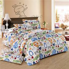 awesome orange blue and white colorful zoo park jungle animal lion animal bedding sets designs