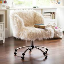 elegant desk chairs for girls ivory furlicious wingback desk chair pbteen