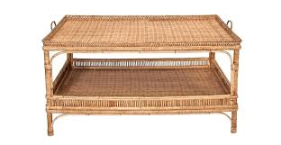 wicker tea cart coffee table round with storage