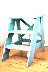 wooden kitchen step stool creative folding chair stools cosco vintage st